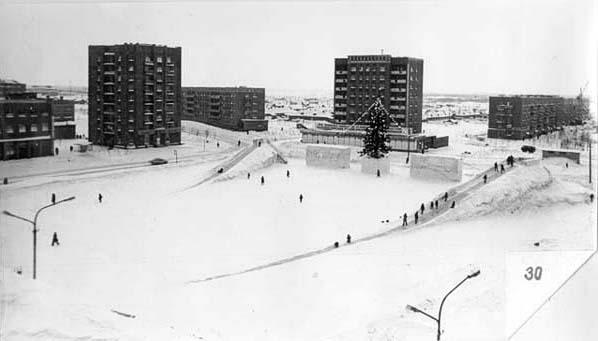 Новая площадь зимой