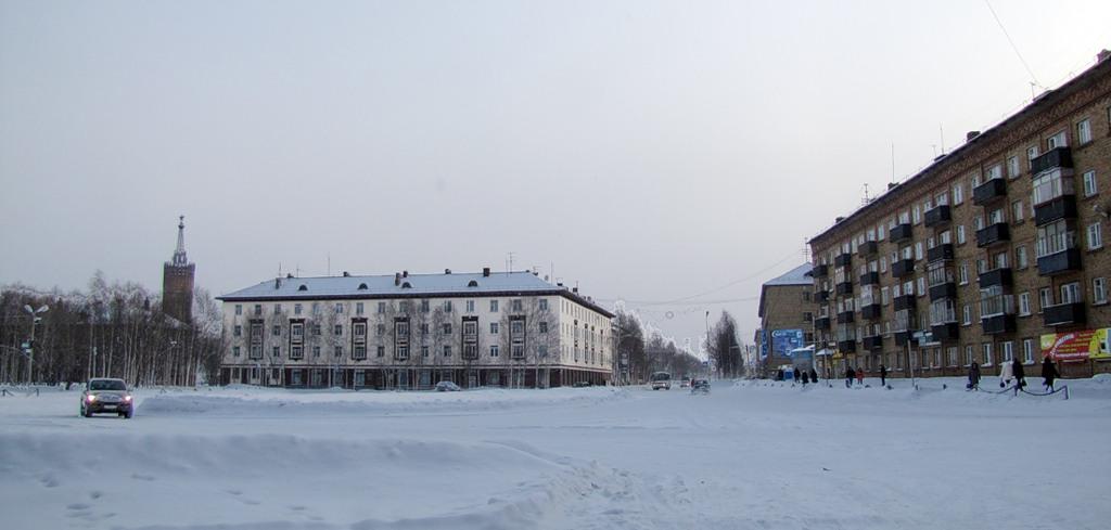 Старая площадь в снегу