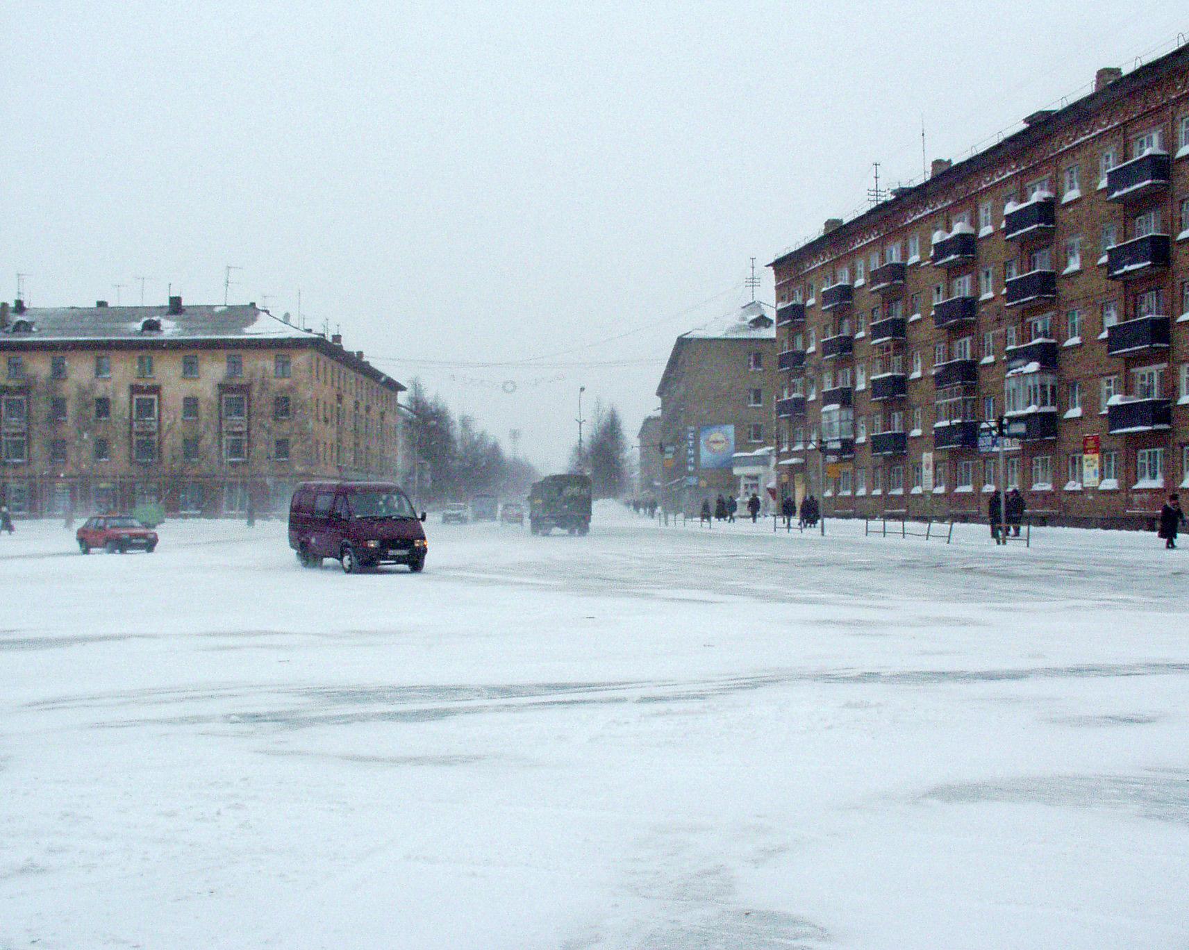 Старая площадь зимой