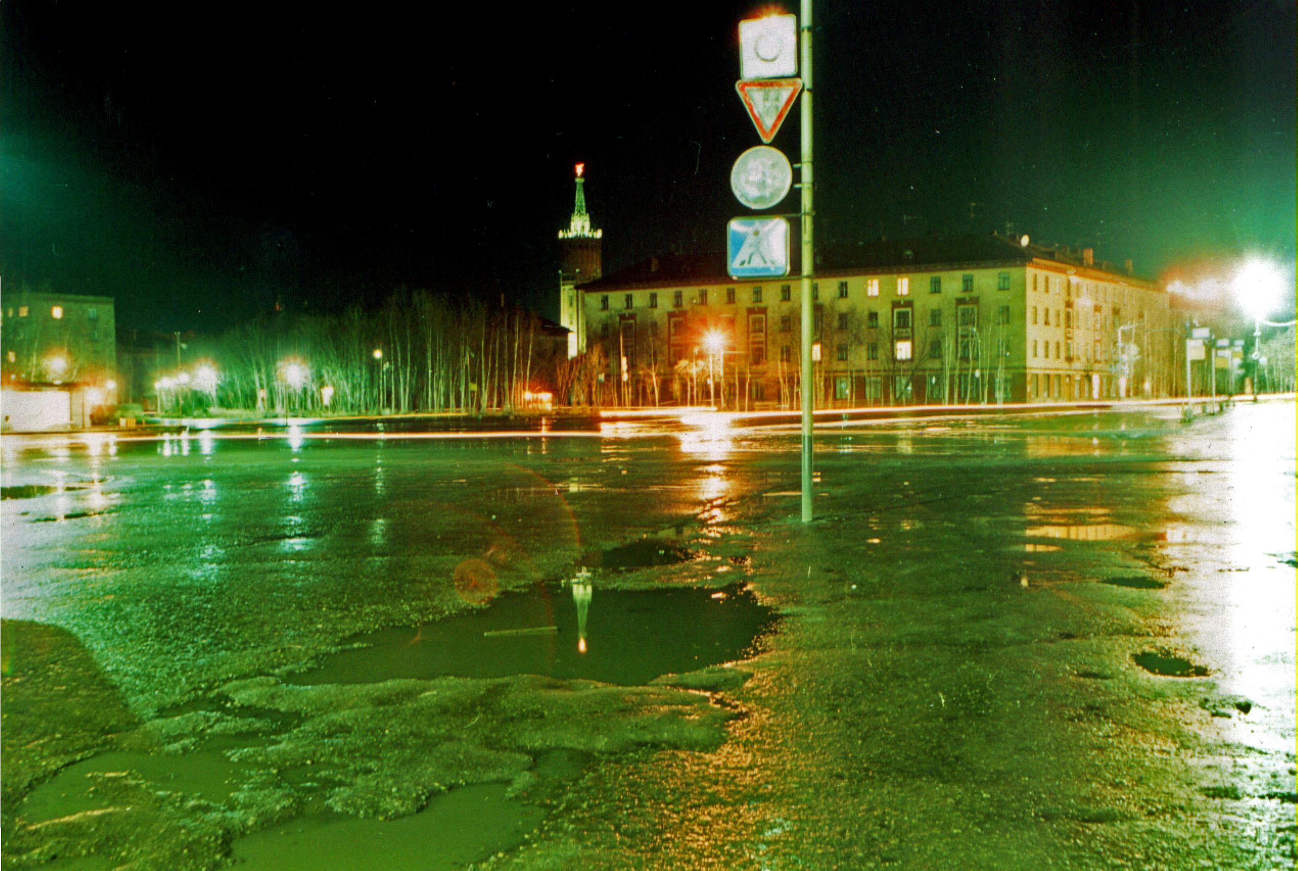 Ночная старая площадь