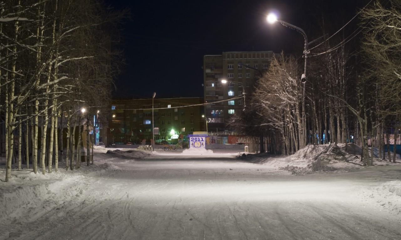 Улица Горького зимой