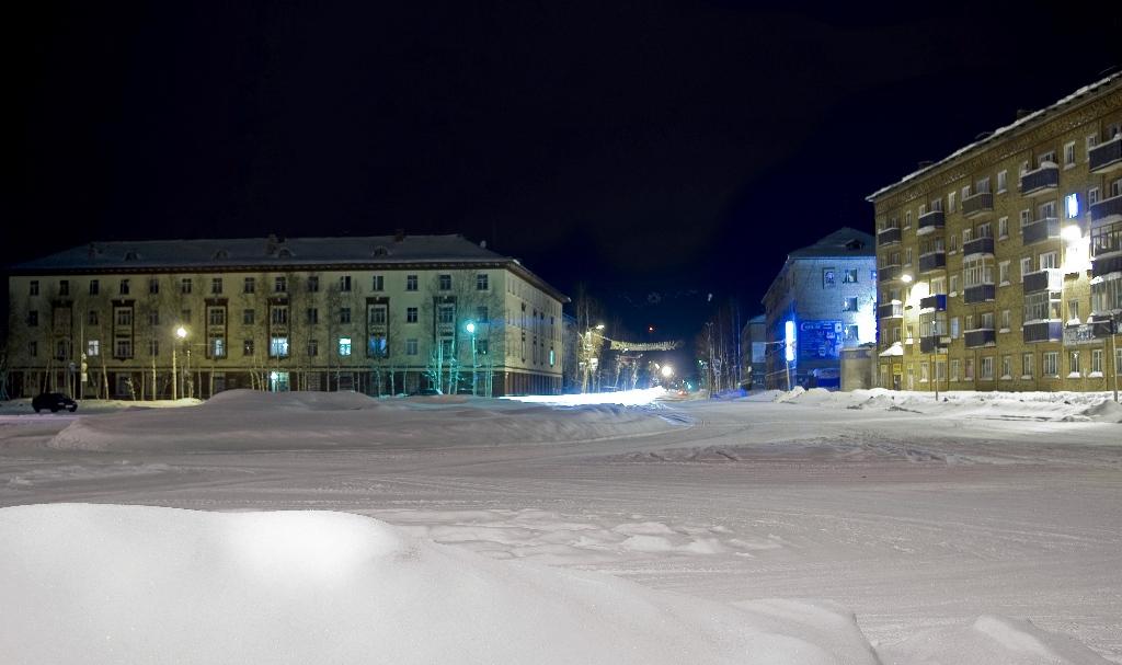 Зимняя старая площадь
